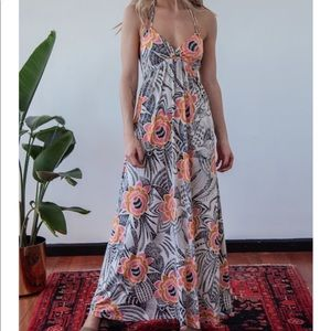Veronica M Deanna Double Strap Maxi Dress